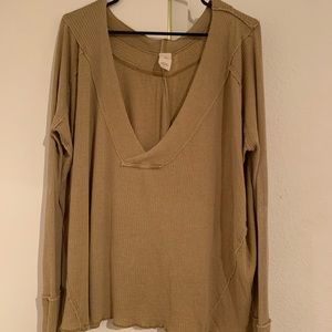 Free People Brown Small Oversized Sweater